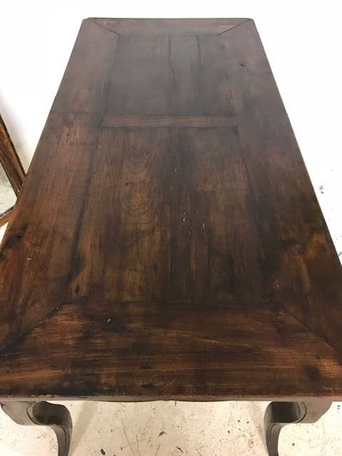 SOLD - Antique French  Dining / Kitchen Table - v86